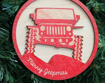 Jeep JK Christmas Ornament