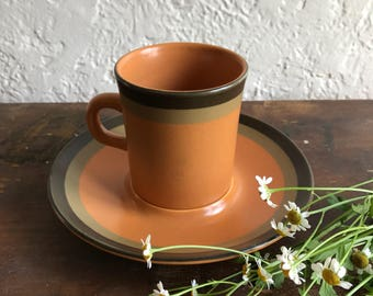 Arrowstone Mid Century Cup and Saucer// Tea Cup and Saucer