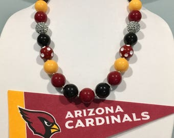 NFL Arizona CARDINALS Show Your TEAM Color Chunky Bead Necklace