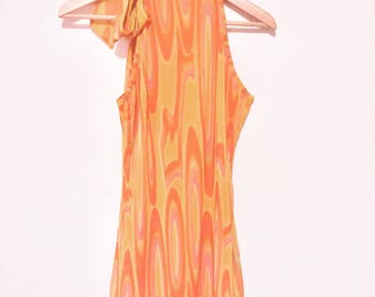 60s style psychedelic mini shift dress