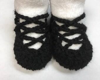 Newborn Irish Dancing Soft Shoes (Ghillies)