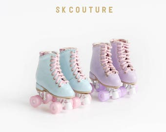 SK Couture Roller Skates Shoes for Blythe Pullip Licca Azone Momoko Jenny Lati Yellow 1/8 BJD