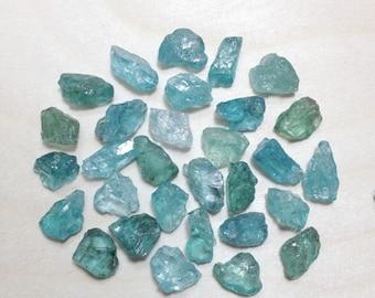 15% off - Rough blue green apatite lot, raw apatite crystal // B*2420