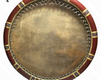 Daf Frame Drum 22 In. top made of camel skin Professional - EthnicTune Workshop