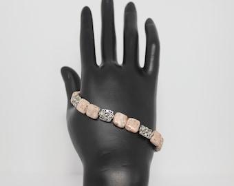 Genuine Pink Botswana Agate Bracelet