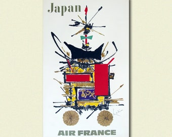 Japan Travel Print - Air France Travel Poster Japan Poster Japanese Print Air France Poster Travel Wall Art Travel Deco