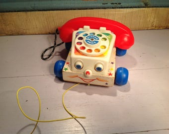 Vintage Fisher Price 70s phone