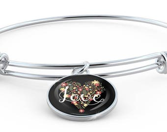 Love - Bangle Bracelet
