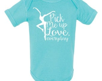 "DMB Dave Matthews Band infant baby Onesie Creeper - ""Pick Me Up Love, Everyday"""