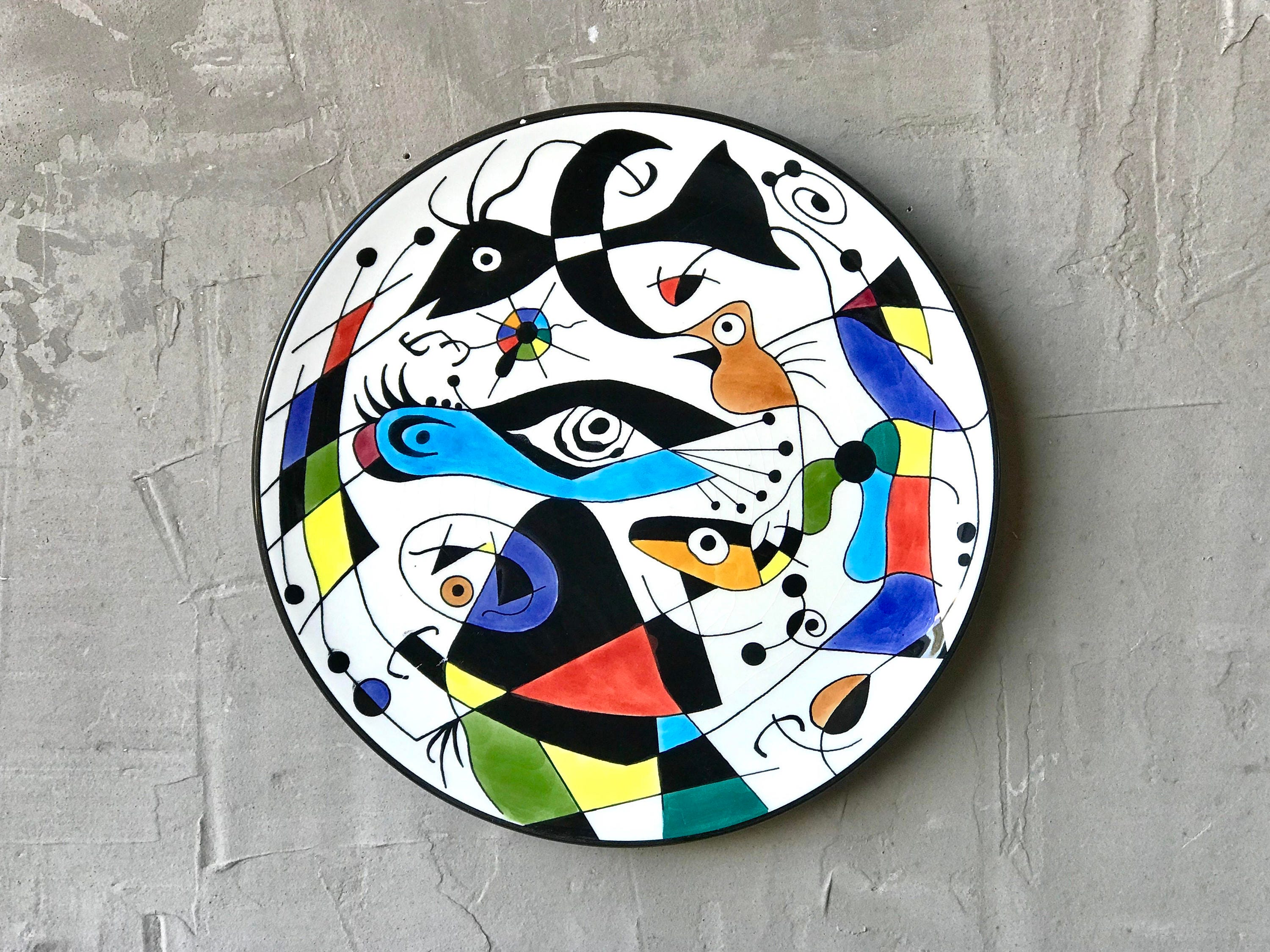 Greyhound Shipping Quote >> Joan Miro Styled Ceramic Charger.
