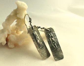 Sterling silver drop earrings - french wires