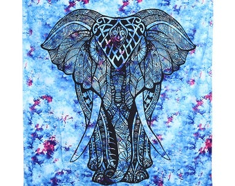 Elephant Tapestry Wall Art 130 cm by 150 cm