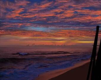 Sunrise over Sandbridge anchor  signed limited edition giclee print