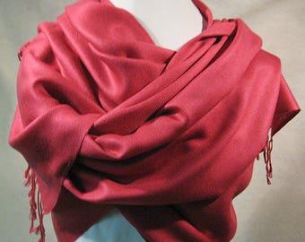 Rose Pashmina, Rose Pink Pashmina, Rose Shawl, Rose Wrap, Rose Scarf, Pink Shawl, Pink Wrap, Fushia Wrap, Fushia Shawl, Fushia Pashmina