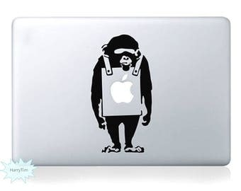 Monkey Decal Mac Stickers Macbook Decals Macbook Stickers Apple Decal Mac Decal Stickers Laptop Decal
