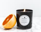 BLOOD ORANGE Soy Candle / Citrus Candle / Blood Orange / Home Decor / Gift Idea / Minimalist / Black White Decor / Handmade / Christmas Gift