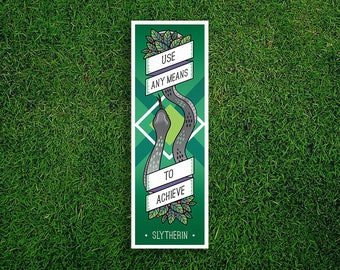 Long Bookmark | Slytherin Bookmark Use Any Means To Succeed Hogwarts Houses Bookmark Sorting Hat Quidditch Harry Potter Bookmark
