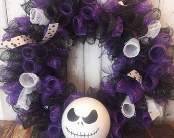 Jack Skellington Deco Mesh Wreath