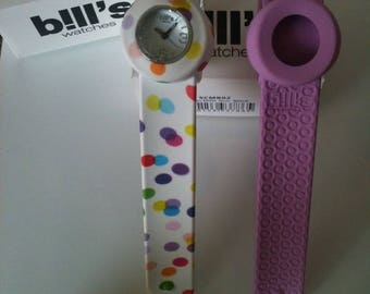 Bracelet, watch, bill's, mini, plain, without face, pink