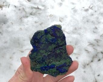 Azurite-Malachite Slab