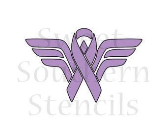 WW Cancer Ribbon Cookie Stencil