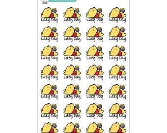 Lazy Day Disney Cuties Stickers - Disney Planner Stickers