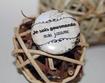 Badge pin 25mm * gourmet *.