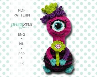 Amigurumi crochet pattern Princess Sky monster, PDF, ebook, cuddly toy