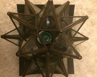 Star hanging candle holder