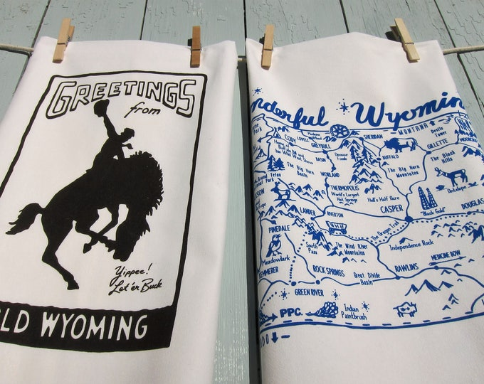 Wyoming Souvenir Tea Towel Gift Set