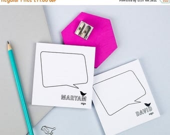 ON SALE Speech Bubble Notepads | Pair Of Pads | Speech Bubbles | Gift For Teenagers | Fun Stationery