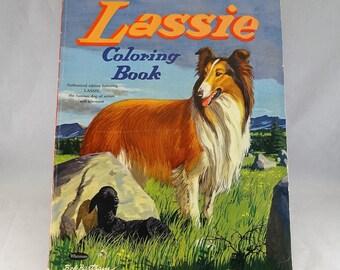 1957 Vintage Lassie Coloring Book