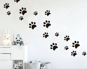Paws Wall Decal, Dog Wall Decal, Paw Prints, Dog Paws, Paws Stickers