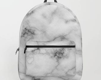 Marble Backpack , Marble bag , White , Marble Stone bag , Marble , stone bag , white bag , beach bag , backpack , school bag , white marble