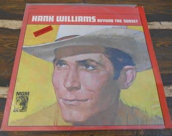 Hank Williams Beyond the Sunset 665204 Vintage Vinyl Record LP 1963