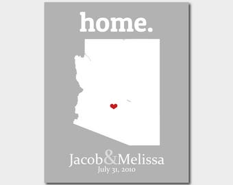 Arizona Gifts Personalized Wedding Gifts For Couple 36 Year Anniversary Gift City Map Prints 40th Anniversary Gift For Parents Unique Print