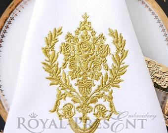 Machine Embroidery Design Damask pattern - 2 sizes