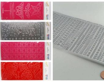 Peel Off Stickers Autocollants Contours Artemio MOD au choix Papillons Coeur Alphabet Printemps  Scrapbooking carterie