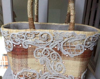 straw bag and old lace