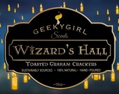 Wizard's Hall | Wizard Inspired Candle | Toasted Graham Crackers
