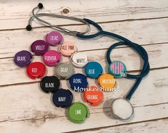 Personalized Stethoscope ID Covers , Stethoscope ID Tags, Nurse Gifts, Nursing Student Gifts, Doctor Gifts, Monogrammed ID Covers,