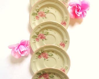 "Fine China ""Roseland"" Saucer Set By Gibson Designs - Made in America - Circa 1995'96"