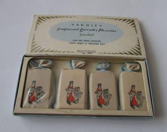 Vintage Yardley Lavender Sachets Boxed New Old Stock Sachet NOS