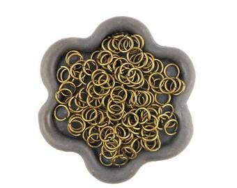x 100 jump rings open bronze 5mm (31)