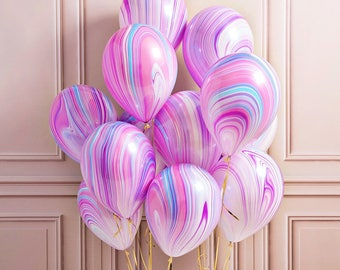 Baby Shower, Unicorn Party, Birthday Pary, First Birthday, Marble Balloons, Agate Marble Balloons, Party Supplies, Wedding Decorations