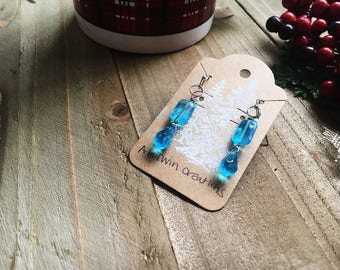 Ice blue Dangles