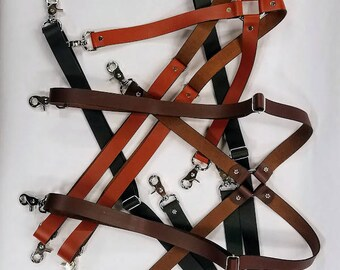 Leather Suspenders 7001