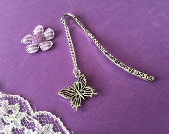 Butterfly Bookmark, Butterfly Charm Bookmark