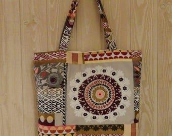 tote bag tote bag multicolored ethnic pattern jacquard fabric