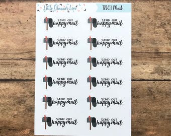 Send Out Happy Mail Planner Stickers for All Planners
